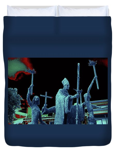 Duvet Cover featuring the photograph La Rogativa 2106 by Ricardo J Ruiz de Porras