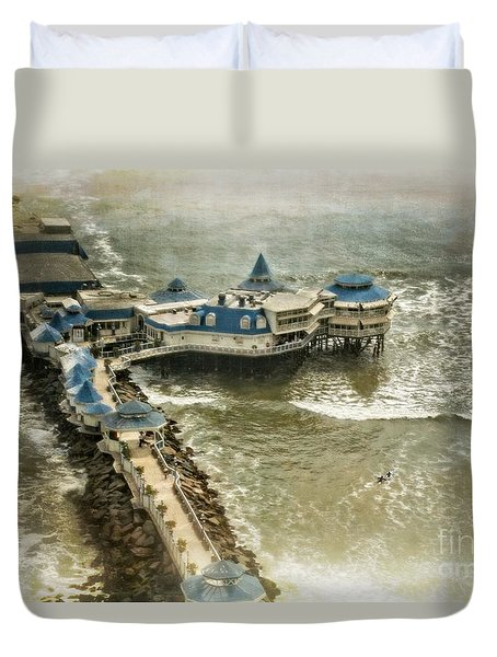 Duvet Cover featuring the photograph La Rosa Nautica - Peru by Mary Machare