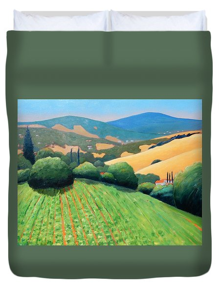 La Rusticana Revisited Duvet Cover by Gary Coleman