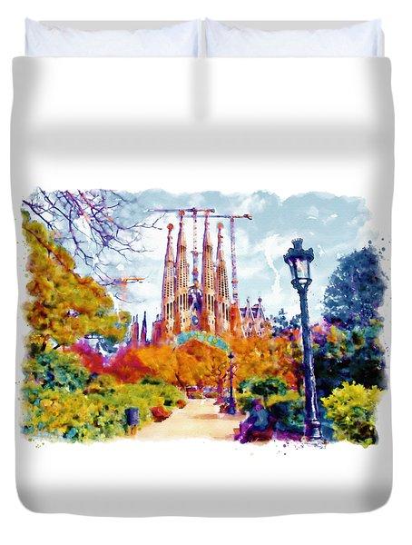 La Sagrada Familia - Park View Duvet Cover