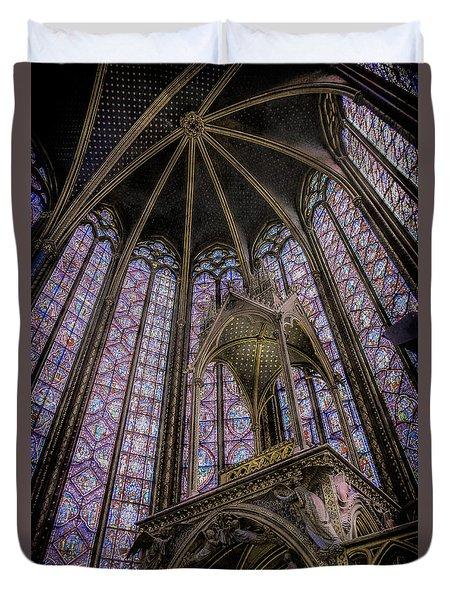 Paris, France - La-sainte-chapelle - Apse And Canopy Duvet Cover