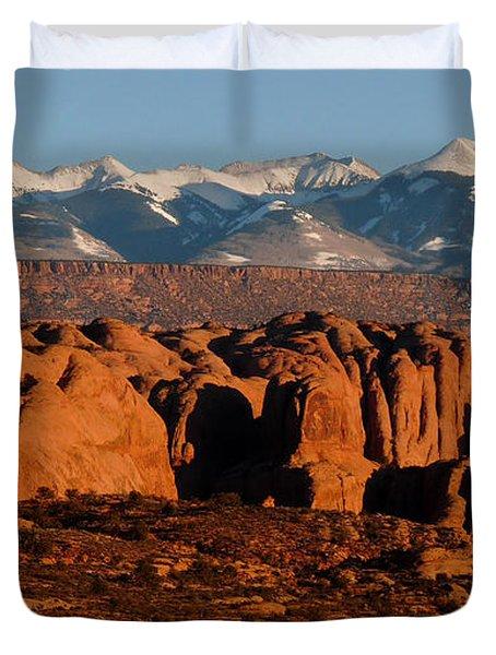 La Sal Mountains Duvet Cover