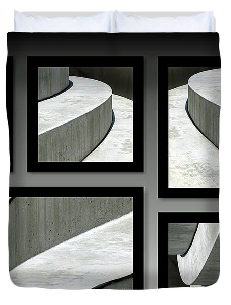 Duvet Cover featuring the photograph La Stairs Collage 01a by Ausra Huntington nee Paulauskaite
