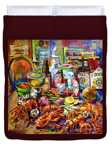 La Table De Fruits De Mer Duvet Cover