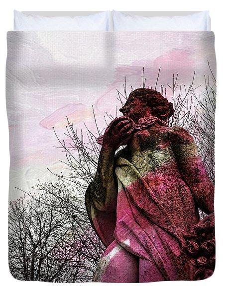 'la Terre' En Rose Duvet Cover