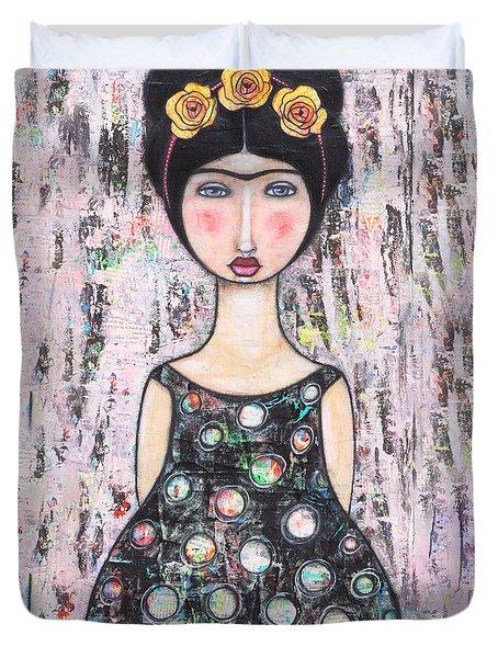 La-tina Duvet Cover by Natalie Briney