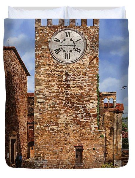 La Torre Del Carmine-montecatini Terme-tuscany Duvet Cover