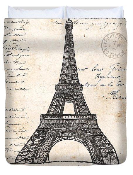 La Tour Eiffel Duvet Cover