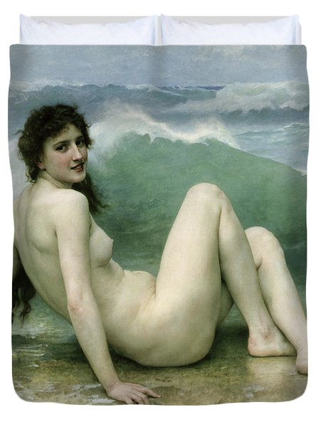 La Vague Duvet Cover by William Adolphe Bouguereau