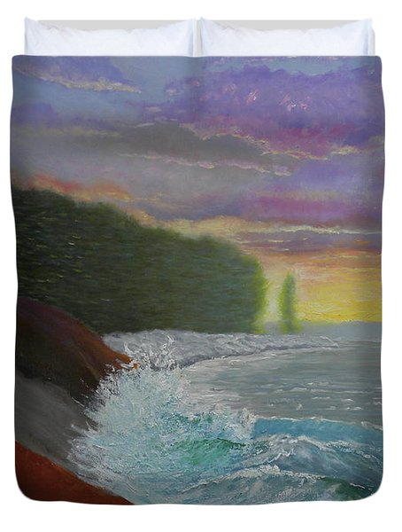 La Verna Sunrise Duvet Cover