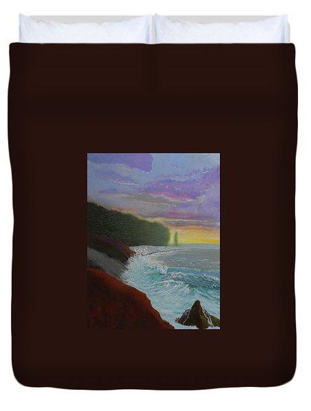 La Verna Sunrise Duvet Cover
