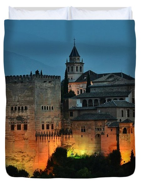 #laalhambra At Dusk - #ig_andalucia Duvet Cover