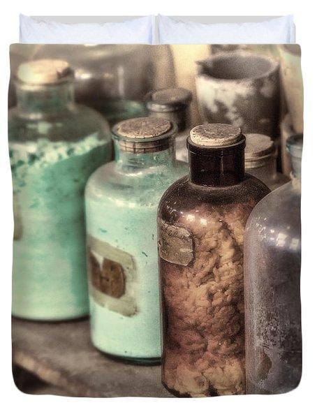Lab Bottles Tinted Duvet Cover