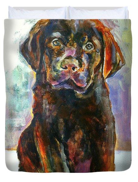Lab Puppy Duvet Cover