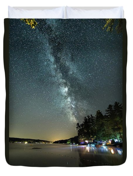Labor Day Milky Way In Vacationland Duvet Cover