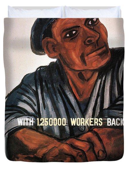 Labor Poster, 1930s Duvet Cover
