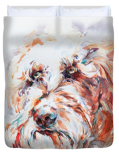Labradoodle Duvet Cover by Stephie Butler