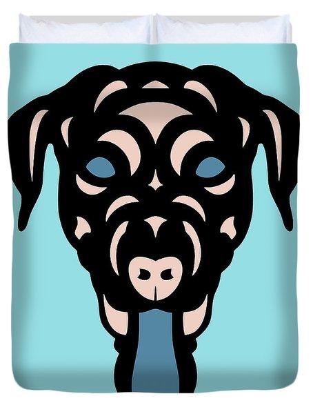 Labrador Dorianna - Dog Design - Island Paradise, Pale Dogwood,  Niagara Blue Duvet Cover