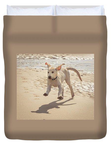 Labrador Jumping Duvet Cover