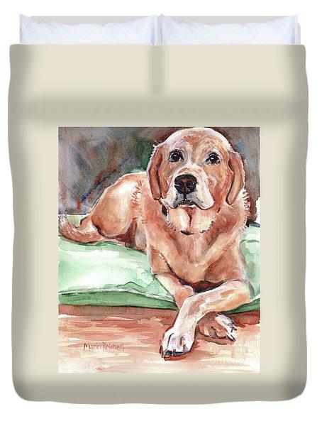 Labrador Retreiver Yellow Duvet Cover