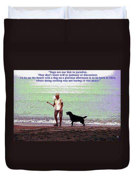 Labrador Retriever Duvet Cover by Charles Shoup