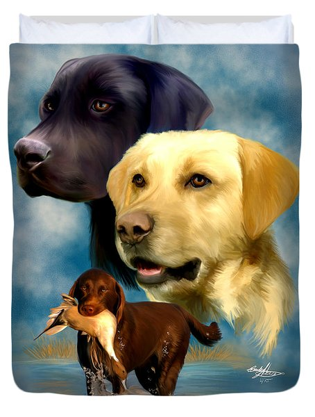 Labrador Retrievers Duvet Cover