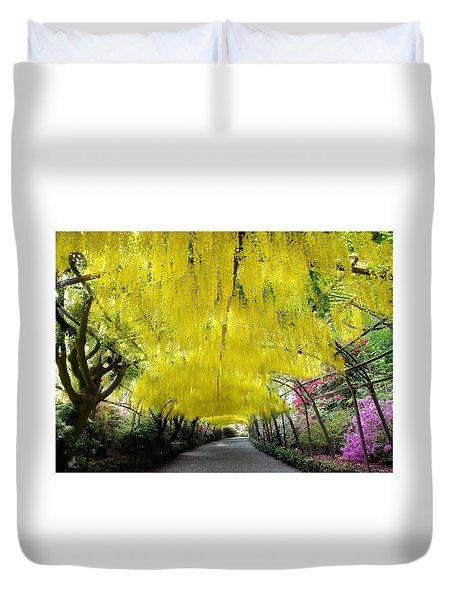 Laburnum Arch, Bodnant Garden Duvet Cover
