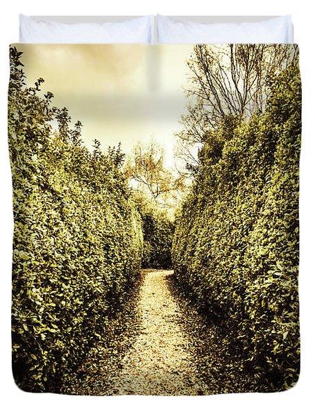 Labyrinth Lane Duvet Cover