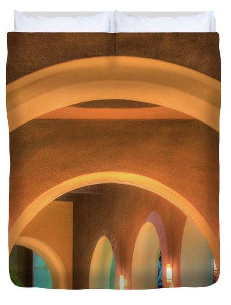 Labyrinthian Arches Duvet Cover