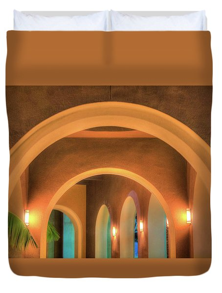 Duvet Cover featuring the photograph Labyrinthian Arches by T Brian Jones