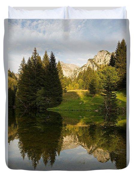 Lac De Fontaine Reflections Duvet Cover