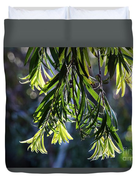 Lacey Leaves Duvet Cover
