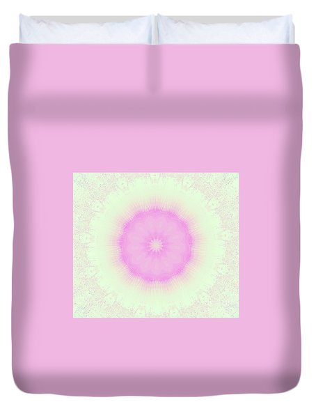 Lacey Pink And Green Duvet Cover