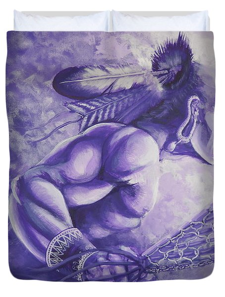 Lacrosse  Duvet Cover by Curtis Mitchell