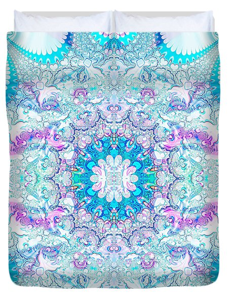 Duvet Cover featuring the digital art Lacy Mandala by Bee-Bee Deigner