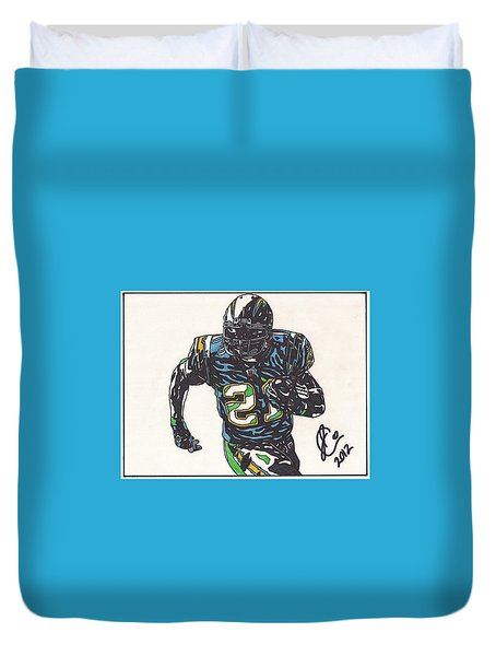 Ladainian Tomlinson 1 Duvet Cover by Jeremiah Colley