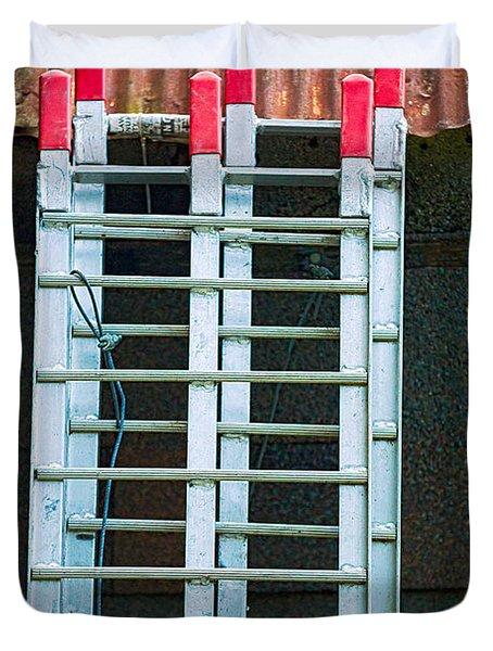 Ladder Shingles Roof Duvet Cover