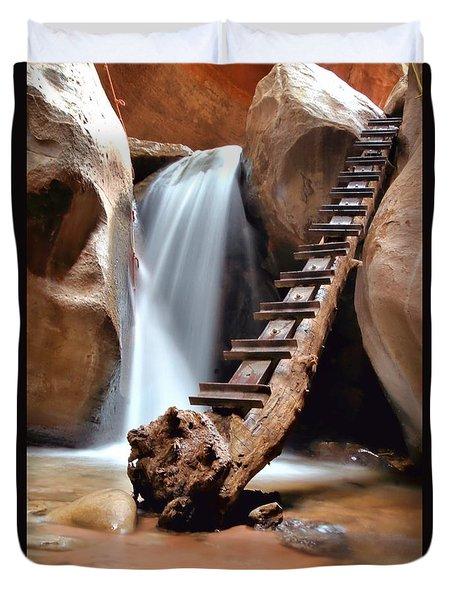Ladder To Beyond Duvet Cover