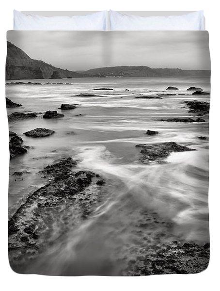 Ladram Bay In Devon Duvet Cover