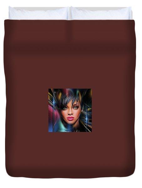 Lady Beautiful Duvet Cover