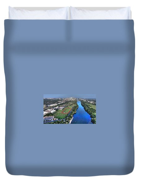 Lady Bird Lake Duvet Cover by Andrew Nourse