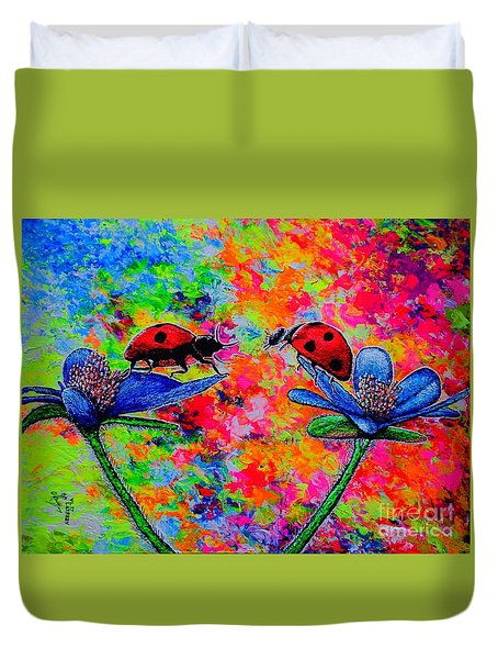 Lady Bugs Duvet Cover by Viktor Lazarev