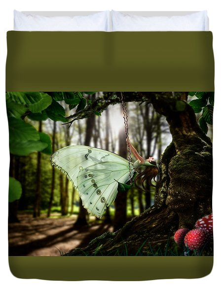 Lady Butterfly Duvet Cover