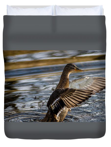 Lady Duck Duvet Cover