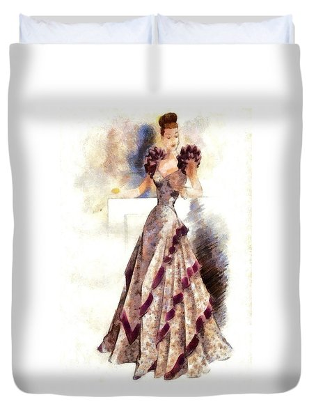 Lady Elegance Duvet Cover