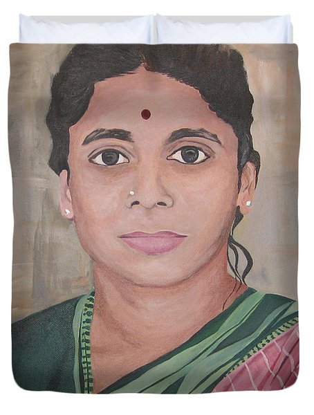 Lady From India Duvet Cover
