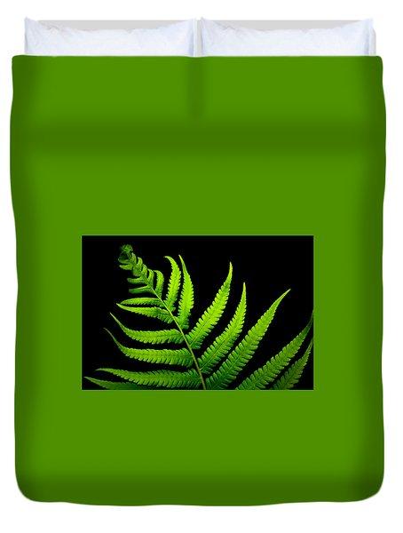 Lady Green Duvet Cover