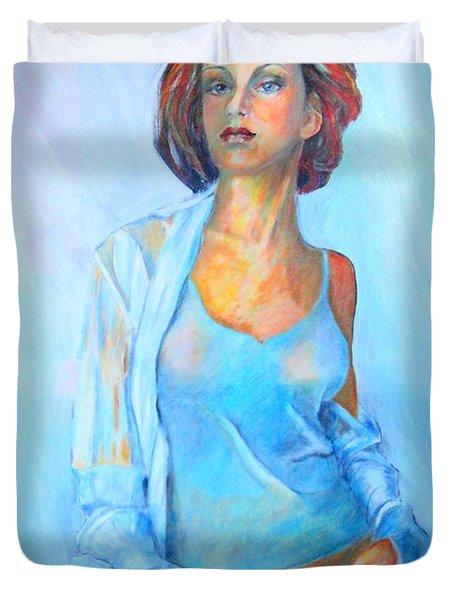 Lady In Blue II Duvet Cover