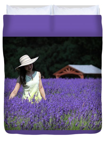 Lady In Lavender Duvet Cover