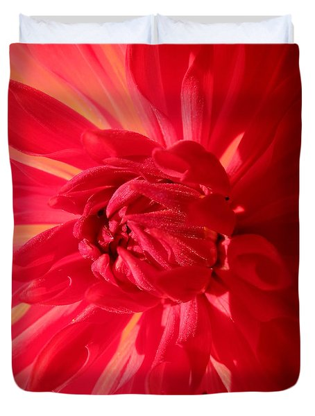 Lady In Red Duvet Cover